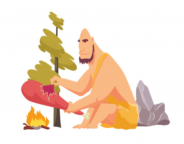 2019-10-23 stone-age-primitive-man-animal-hide-pelt-cooking-meat-food-fire-flat-style-vector-illustration-isolated_87946-543
